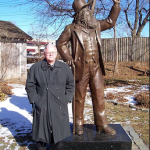 Terry Jude Miller at the birthplace of Walt Whitman